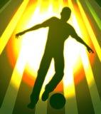 Super soccer star illustration. Silhouette illustration Stock Photos