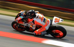 Super Sport bike race Royalty Free Stock Photos