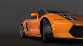 Super sport car in perspective Royalty Free Stock Photo