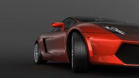 Super sport car in perspective Stock Photo
