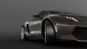 Super sport car in perspective Royalty Free Stock Photography