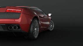 Super sport car in perspective Royalty Free Stock Images