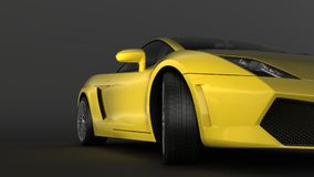 Super sport car in perspective Royalty Free Stock Photos