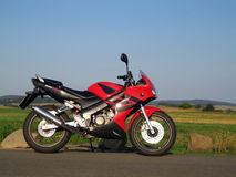Super-sport motorbike. Small and weak super-sport motorbike for teenagers royalty free stock photo