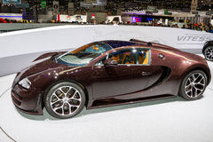 Super sportwagen in Genève Stock Foto's