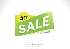 Super sprzedaż i specjalna oferta 50% daleko Zdjęcie Royalty Free