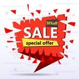 Super sprzedaż i specjalna oferta również zwrócić corel ilustracji wektora ilustracja wektor