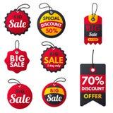 Super sprzedaż sztandarów teksta ekstra premiowej czerwonej etykietki zakupy interneta promoci rabata oferty wektoru biznesowa il royalty ilustracja