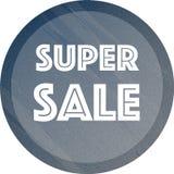 Super sprzedaż sztandar w zmroku - błękita muśnięcia farby styl Obraz Royalty Free