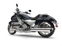 Super srebny nowożytny potężny motocykl - boczny widok Zdjęcie Royalty Free