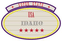Super Staat de V.S. - Idaho stock illustratie