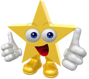 Super star 3d mascot figure Stock Images