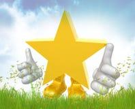 Super star 3d mascot figure Stock Photos