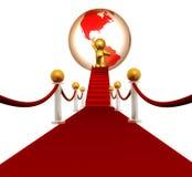 Super star on the red carpet. Illustration Stock Photo