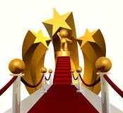 Super star on red carpet. 3d icon Stock Photo