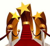 Super star stage on red carpet. 3d icon Royalty Free Stock Image