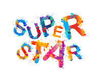 Super star. Vector splash paint Royalty Free Stock Photos