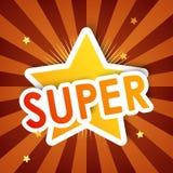 Super ster, achtergrond Stock Fotografie