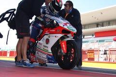 Super-stock de Danilo Petrucci Ducati 1198R Barni Photo libre de droits
