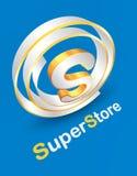 Super Store company logo design royalty free illustration