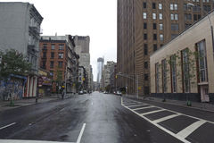 After super storm Sandy in new york. Lower manhattan street after super storm Sandy Royalty Free Stock Images