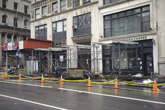 After super storm Sandy in new york. Lower manhattan street after super storm Sandy Stock Images