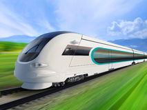 Super streamlined train royalty free illustration