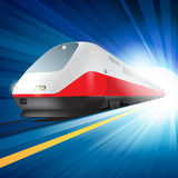 Super streamlined train Stock Images