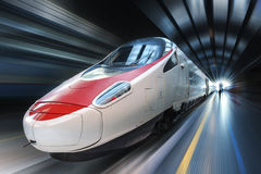 Super streamlined train Stock Image