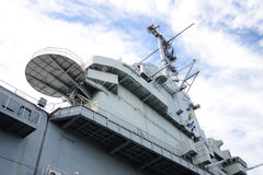 Super Structure of Aircraft Carrier Stock Image