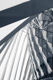 Super structuur en architectuurvoorgevel van de moderne bouw, Abst Stock Afbeeldingen