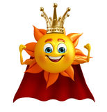 Super Sun Character With crown Royalty Free Stock Photography