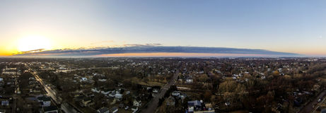 Super Szeroki Panoramiczny wschód słońca, Mitchell SD Zdjęcie Royalty Free