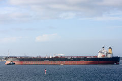Super tanker moored in harbour Royalty Free Stock Photography