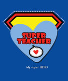 Super teacher Royalty Free Stock Image