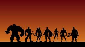 Super Team Shatter stock footage