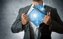 Super technologia bohater Zdjęcia Stock