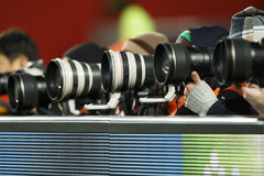 Super Telephoto Lenses Stock Photo