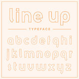 Super thin outline display typeface Stock Image
