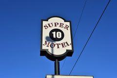 Super Tien Motel, Millington, TN royalty-vrije stock afbeelding