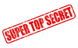 SUPER TOP SECRET red stamp text Royalty Free Stock Photos