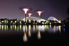 Super trees and Flower Dome at Gardens by the Bay Royalty Free Stock Image