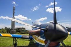 Super Tucano - brazylijczyka Aerospacial pomnik (MAB) Obraz Stock