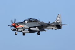 Super Tucano on delivery Royalty Free Stock Photo