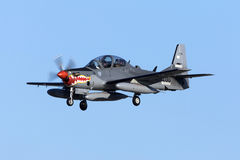 Super Tucano on delivery Royalty Free Stock Photos