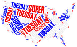 Super tuesday. Concept related to american president election. Stock Images