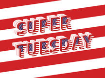Super Tuesday Election Day in USA Stock Photo