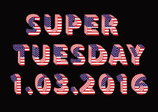 Super Tuesday Election Day in USA Royalty Free Stock Photo