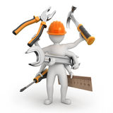 Super universal repairman. Image with a work path Stock Image