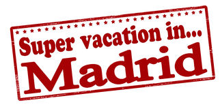 Super vacation in Madrid Stock Images